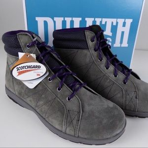 Duluth Trading Suede Steel Creek Ankle Boots NIB